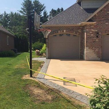 Driveway and Sidewalk After