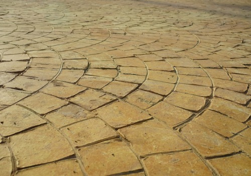 Stamped Concrete in Peoria IL made to look like bricks
