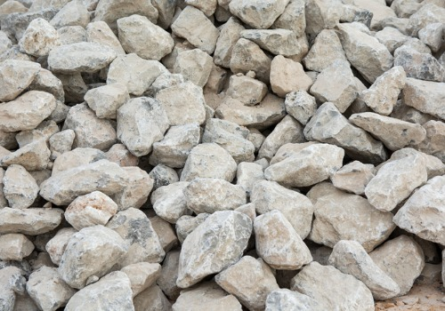 Crushed rocks after a Rock Delivery in Peoria IL