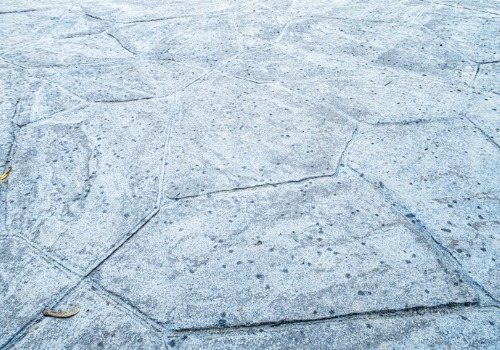 Stamped Concrete in Peoria IL made to look like stone
